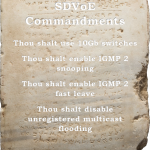 The Four Commandments of an SDVoE network switch
