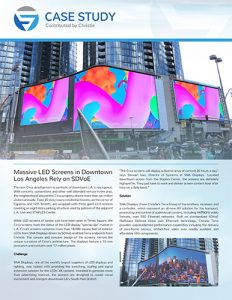 SDVoE case study - Massive LED screens at Circa Los Angeles