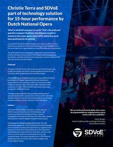 SDVoE case study - aus LICHT Dutch National Opera