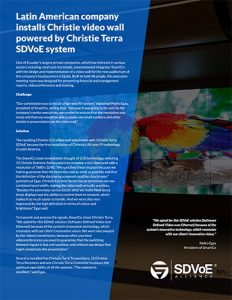 SDVoE case study - corporate video wall in Ecuador