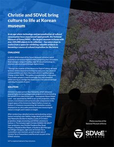 SDVoE case study - National Museum of Korea (NMK)