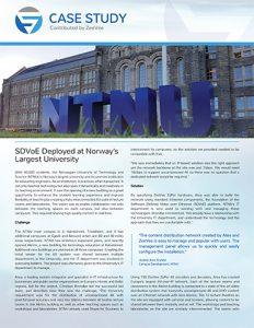 SDVoE case study - NTNU