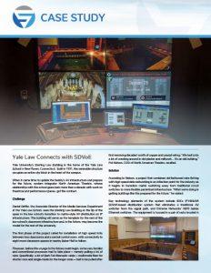 SDVoE case study - Yale University Sterling Law Building