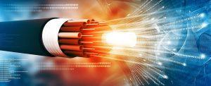 fiber optic cable shines