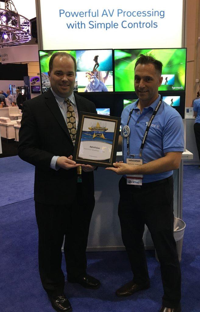 SDVoE winning award